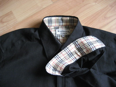 6013db14b143 новая мужская рубашка Burberry p.М 100% (сток, нужно заменить пуговицы на  одном рукаве)
