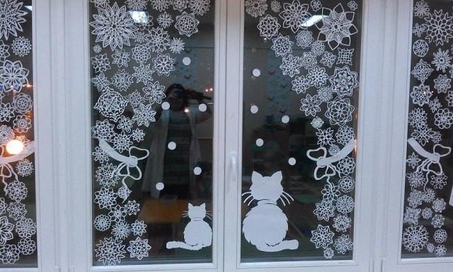 Украшения для новогоднего окна своими руками