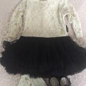 Праздничное платье кружево Mothercare
