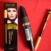 Шикарный набор Max Factor  тушь+ карандаш. Срок до 2019 г.