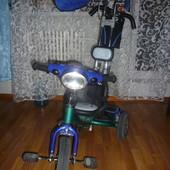 Детский трёхколесный велосипед Lexus trike от 1- 4-х лет-резиновые колеса,муз фара