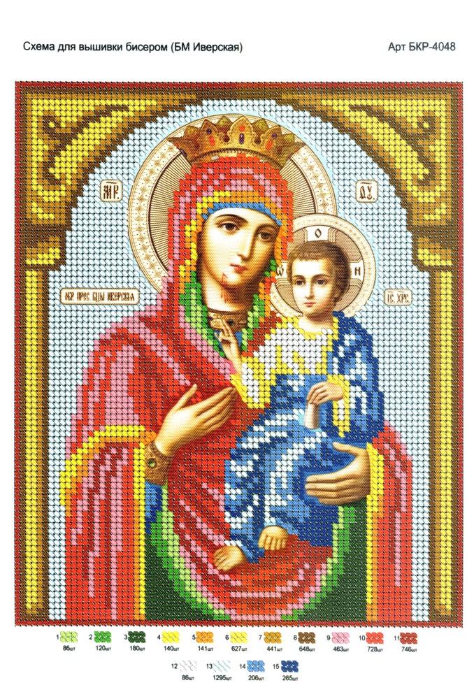 Иверская икона божьей матери схема вышивки 4