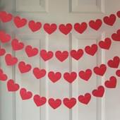 Скоро день закоханих!!! Встигніть підготуватися Гирлянда з сердечек лот 3 м.  Обмежена кількість.