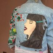 Нова джинсова куртка ручного розпису авторська робота.