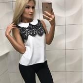 Новая блуза с кружевом