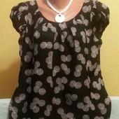Милая симпатичная блуза р.18, 100% вискоза смотрите замеры