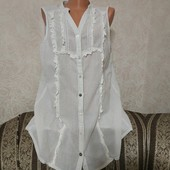 Лёгкая коттоновая блуза с серебрянными нитями