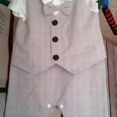 Нарядный костюмчик для мальчика на рост 80 см.