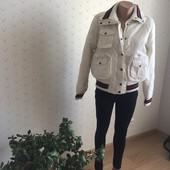 Белая деми курточка Miss Exitos L-XL одета 1раз