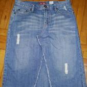 Стильна якісна джинсова спідниця, розмір 12