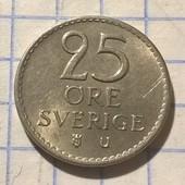 Монета Швеции 25 эре 1968