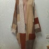 Теплющий мягусенький стрейчевый кардиган с карманами Турция, р.48-50-52-54 пог70