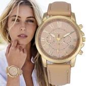 Стильные широкие часы Geneva Platinum.Красиво и дорого смотрятся.