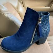 Натуральный замша , женские деми ботинки!модэль этого года