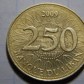 Монета. Ливан. 250 ливров 2009 года.
