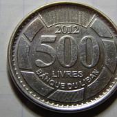 Монета. Ливан. 500 ливров 2012 года.