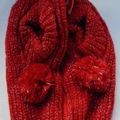 Новогодние вязаные теплые тапочки-носочки с тормозами Америка.