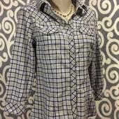 Модная, клетчатая рубашечка Zara для пышненьких  модниц к джинсикам.