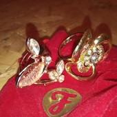 Два колечка с позолотой 18 К (жёлтое золото и красное) в одном лоте!!!❤️