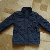 Стильная демисезонная темно-синяя куртка для мальчика 3-5 лет