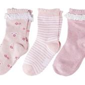 Lupilu 3 пары носков для девочки Германия. Цвета гораздо ярче вживую!!!