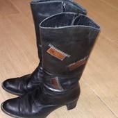 Сапоги кожаные 37 р