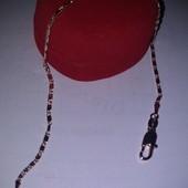 Позолоченный браслет , покрытие 585 пр,длина-21 см*2мм