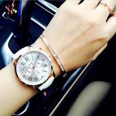 *Стильные широкие часы Geneva Platinum.Красиво и дорого смотрятся.