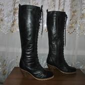 Добротные высокие кожанные сапожки бренда Dune р 40 ст 25.5 см,как новые