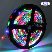 Цветная светодиодная лента с блоком питания, количество диодов 60 шт, длина 5 м,ширина 8 мм.