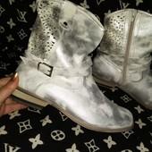 Ботиночки серебро