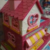 Домик с терассой, с мебелью и куколками Lol surprise. Happy hours. В коробке 28см! Отличный подарок!