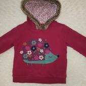 Кофта  толстовка для девочки  4-5 лет, рост 104-110 см
