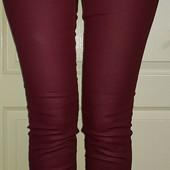Женские джинсы скинни цвет марсала на ОБ  98-104 см