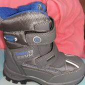 Детские зимние ботинки дутики для девочки на липучках TM Goll(вернгрия ) , размер 30 - стелька 19 см