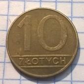 Монета Польши 10 злотых 1989