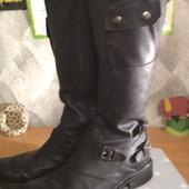 Высокие кожаные сапоги Marc 26 см стелька. Уп при получении. Без доплат