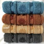 Махровое полотенце, лицевое размер 100×50 см. Толстое. Турция.