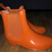 Яркие модные резиновые сапожки-  в лоте- р. 36,40,41 оранжевые!