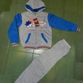 Теплые спортивные костюмы на мальчиков. кофта на меху. Ориентировочно на 8-10 лет
