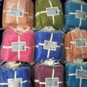 Подарочный комплект полотенец 140*70 и 35*75.Микрофибра.