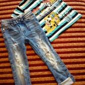 Комплект джинсы+футболка