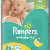 Подгузники PampersNew Baby-Dry Mini 2 (3-6 кг)