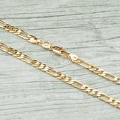 Последняя!!!Шикарная очень нежная цепочка плетение Картье (49см*2мм) позолота 585 пробы УП-15 грн