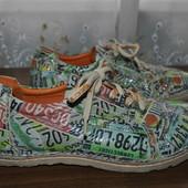 Суперовые кожанные ботиночки из Германии,легкие,р 40 ст 25.5 см изнутри,широкая ножка!