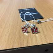 Серебряные сережки - вкрутки , проба 925
