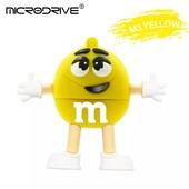 Прикольная флешка 32 Гб жёлтый m&m's или деревянное сердечко