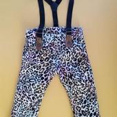 Модные джинсы леопардики 68-74 см