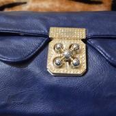 Синий клатч, сумочка