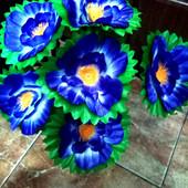 Гербера-6 шт. в букете-Гигантский цветок-16 см длинная ножка-48 см любое кол-во-УП-скидка